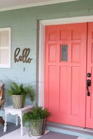 cheery coral painted front doors bright front doors outdoor