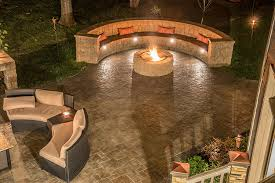 fire pit with seating cambridge pavingstones design gallery