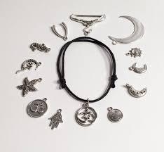 cord bracelet with charm images Adjustable cord charm bracelet tibetan silver charm om bracelet jpg