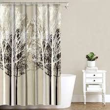 Tree Curtain Mainstays Beige Forest Shower Curtain Walmart Canada