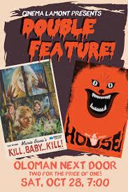 halloween double feature kill baby kill u0026 house u2014 cinema lamont