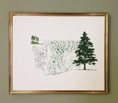 Washington State Printable Map by Turn Of The Centuries The Western States Usa Map Drawings