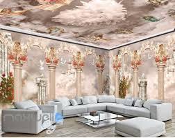 ceiling wall murals idecoroom 3d little angel ceiling pillar wall murals wallpaper decals art print decor idcqw 000312