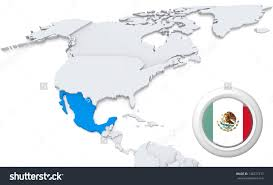 mexico in the world map mexico and america map major tourist attractions maps