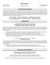 administrative resume template resume sles administration resume template manager