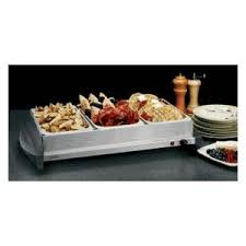 Elite Platinum Stainless Steel Buffet Server by Stainless Steel Buffet Server See Thru Plastic Lids With Spoon