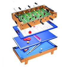 air hockey combo table 4 in 1 table tennis air hockey pool foosball table soccer