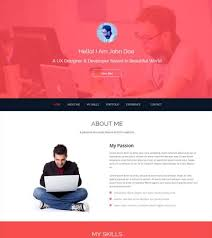 Free Resume Website Templates John Bootstrap One Page Html5 Free Resume Template