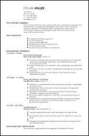 Landscaping Resume Samples by Pest Control Resume Sample 11699