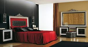 Bedroom With Red Accent Wall - dazzling black bedroom accent wall design with mesmerizing red
