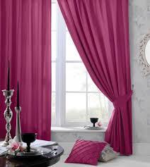 Fuschia Blackout Curtains Designer Faux New Silk Pencil Pleat Curtains With Tie Backs