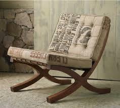 burlap sack upholstery unexpectedly beautiful butaca chair