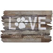 Wipe Your Paws Mat Decorative Apache Mills Love Is All You Need Paw Print 18 In X 30 In Door
