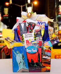 new york gift baskets welcome to times square new york themed gift basket ny nyc