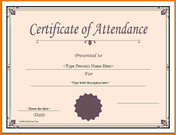 examples of certificates of completion certificate of attendance template 49 free printable certificate