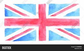 Great Britain Flag Watercolor Uk Flag Watercolor Vector U0026 Photo Bigstock