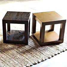 side table mirrored cube side table medium size of nightstand