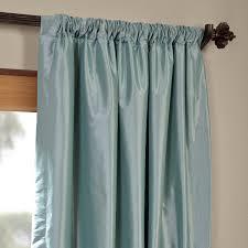 Teal Taffeta Curtains Robin S Egg Blackout Faux Silk Taffeta Curtains Drapes