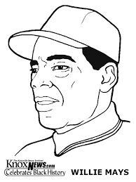 black history month coloring pages willie mays february