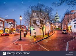 Maryland scenery images Annapolis maryland usa downtown cityscape on main street stock jpg