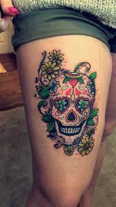 female thigh tattoo designs best 25 sugar skull tattoos ideas on pinterest pretty skull