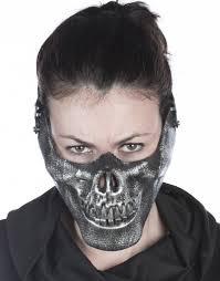 silver skull halloween mask u0027s mens silver skeleton bone skull mouth mask costume