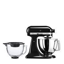 kitchenaid 125 artisan 4 8l stand mixer with additional glass bowl