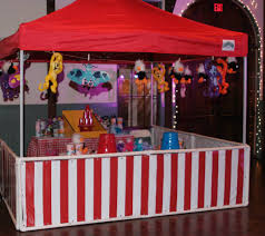 carnival games and booths with prizes for company picnic and