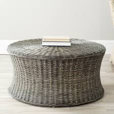 Wicker Storage Ottoman Coffee Table Safavieh Home Collection Ruxton Ottoman Brown
