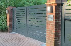 contemporary aluminium swing gates home automation pinterest contemporary aluminium swing gates