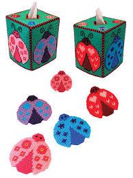 Ladybug Kitchen Decor Plastic Canvas Tissue Box Covers Page 1