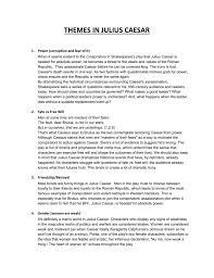 Irony Worksheet Themes In Julius Caesar Worksheet