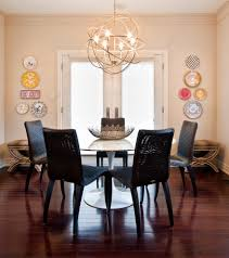 Dining Room Chandeliers Transitional Orb Chandelier Dining Room Traditional With Dark Wood Table