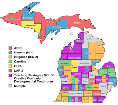 map of school districts in michigan michigan map
