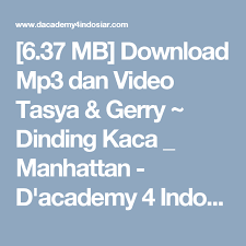 download mp3 dangdut academy 6 37 mb download mp3 dan video tasya gerry dinding kaca