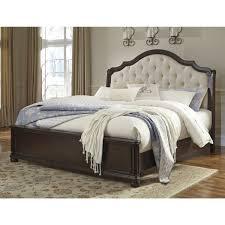bedroom elegant ashley furniture sleigh bed for fabulous bedroom moluxy king upholstered ashley furniture sleigh bed with tufted headboard for bedroom furniture ideas