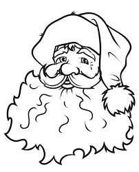 face of santa claus coloring sketch art
