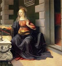 Leonardo Da Vinci Drapery The Annunciation By Leonardo Da Vinci