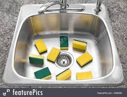 Yellow Kitchen Sink Picture Of Lots Of Yellow Sponges In A Clean Kitchen Sink