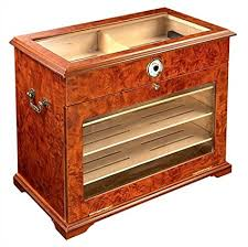 used cigar humidor cabinet for sale amazon com 400 ct burl wood cigar humidor cabinet end table display