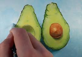 acrylic painting lesson avocados