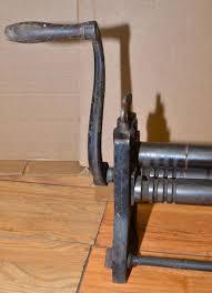 rare antique sheet metal slip punch roller machine 31