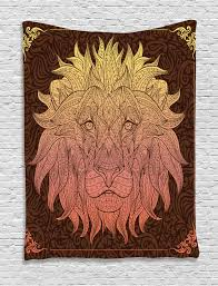 animal print tapestry wall hanging lion floral art home decor ebay