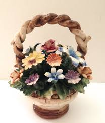 capodimonte basket of roses vintage 8 inch capodimonte flower basket by janvierroad on etsy