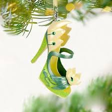 disney parks tiana frog princess runway shoe ornament