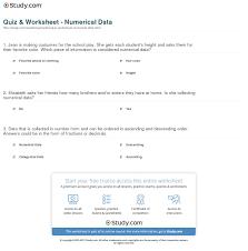 quiz u0026 worksheet numerical data study com