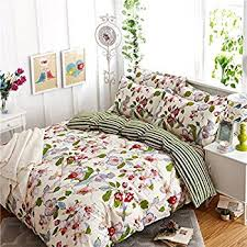 Cotton Duvet Cover Amazon Com 100 Cotton French Country Style Duvet Cover Set Full