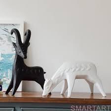 modern abstract goat figurine deer sculpture ornaments fashion