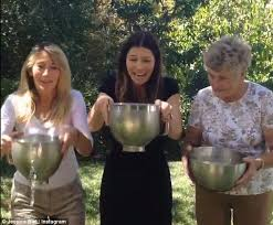 Hilarious Water Challenge Biel Gets Soaked As She Takes The Als Challenge