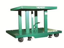 lexco foot operated u0026 electric hydraulic lift table on wesco